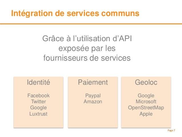 Consommation de services communs Page 8 Pour les propres besoins de l'entreprise Bureautique Office365 Google Apps CRM Sal...