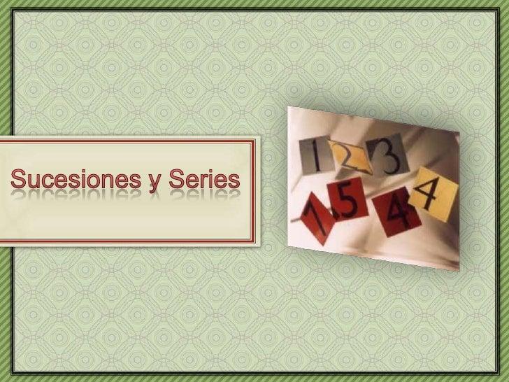 Sucesiones y Series<br />