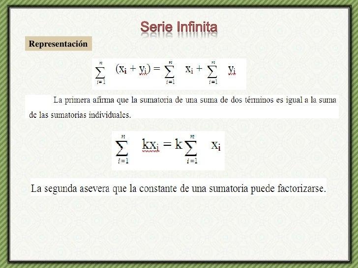 Serie Infinita<br />Representación<br />