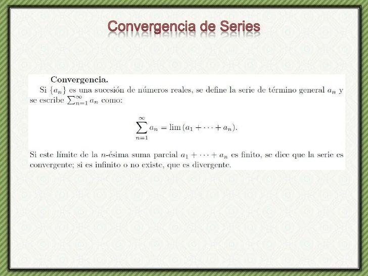 Convergencia de Series<br />
