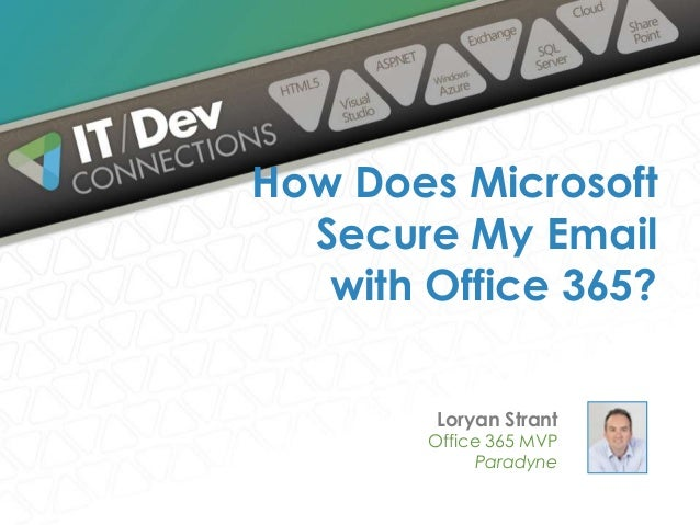 Loryan Strant Office 365 MVP Paradyne How Does Microsoft Secure My Email with Office 365?