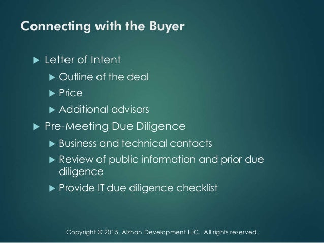7. Connecting with the Buyer  Letter of Intent ...