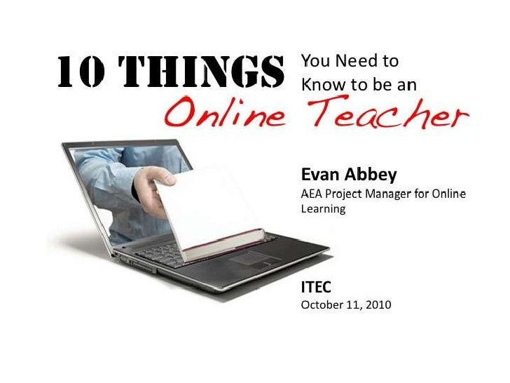 10 Things You Need to Know About Being an Online Teacher