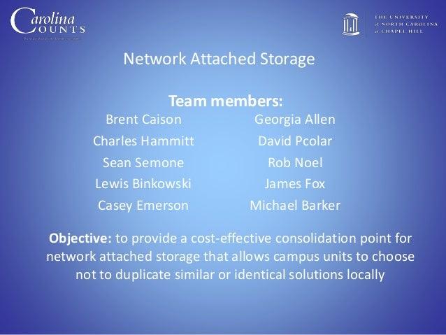 Network Attached Storage Brent Caison Charles Hammitt Sean Semone Lewis Binkowski Casey Emerson Georgia Allen David Pcolar...