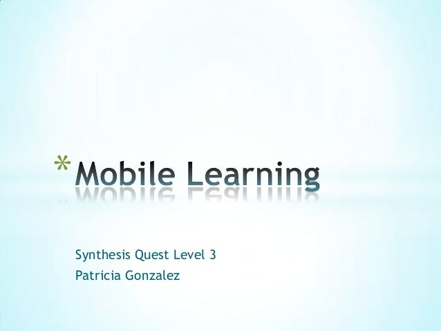 Synthesis Quest Level 3Patricia Gonzalez*