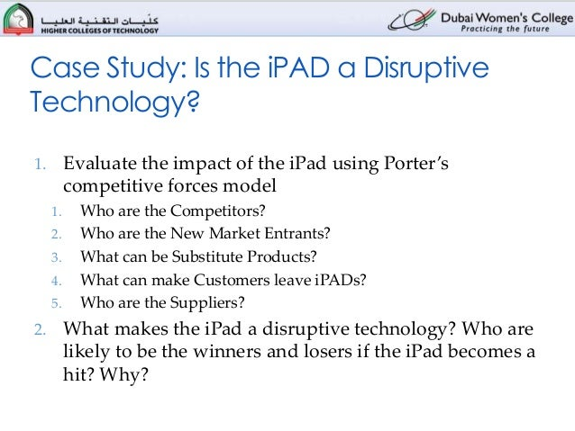is the ipad a disruptive technology case study solution