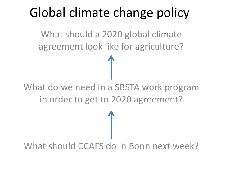 Global climate change policy   What should a 2020 global climate   agreement look like for agriculture?What do we need in ...