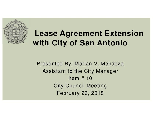 Item 10 Ppt Cosa Lease Agreement Extension