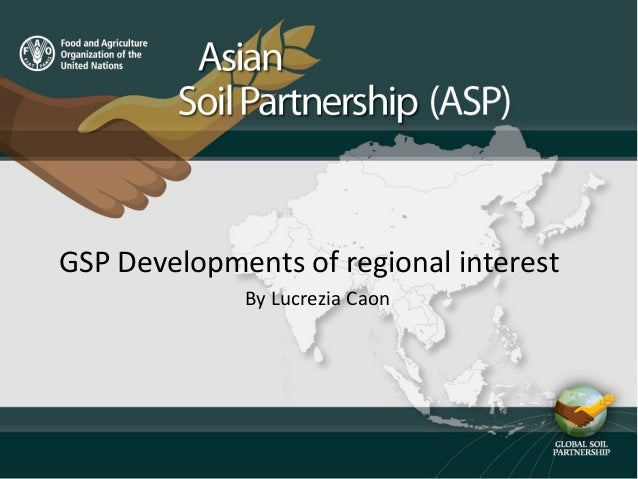 GSP Developments of regional interest By Lucrezia Caon