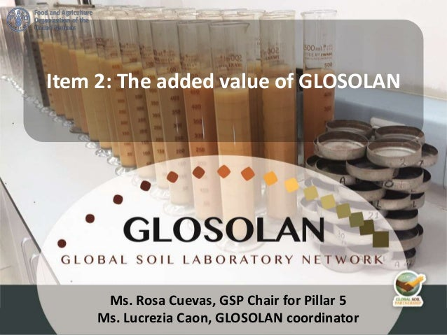 Ms. Rosa Cuevas, GSP Chair for Pillar 5 Ms. Lucrezia Caon, GLOSOLAN coordinator Item 2: The added value of GLOSOLAN