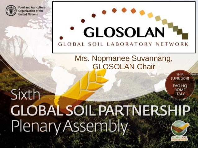 Mrs. Nopmanee Suvannang, GLOSOLAN Chair