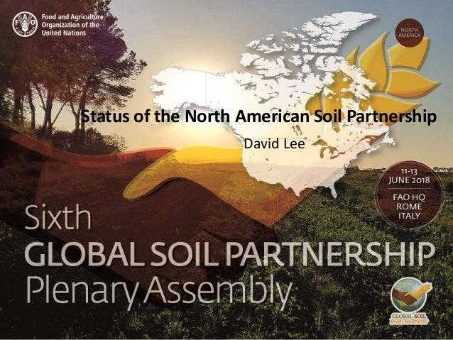 Presenter name Title presentation Status of the North American Soil Partnership David Lee