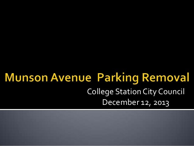 College Station City Council December 12, 2013
