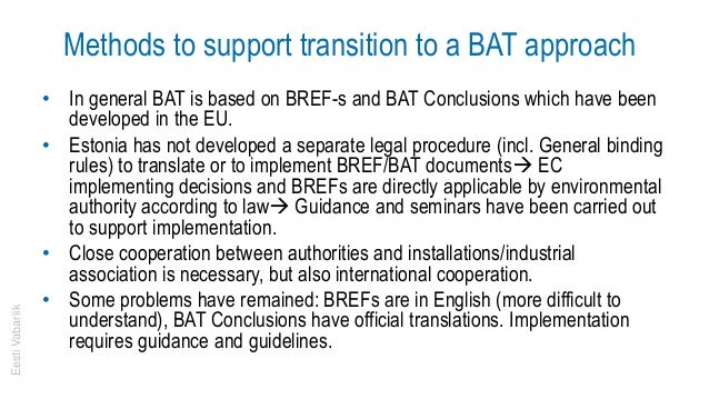 Transitioning to a BAT approach Slide 3