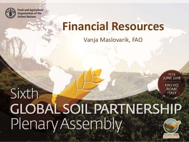 Financial Resources Vanja Maslovarik, FAO