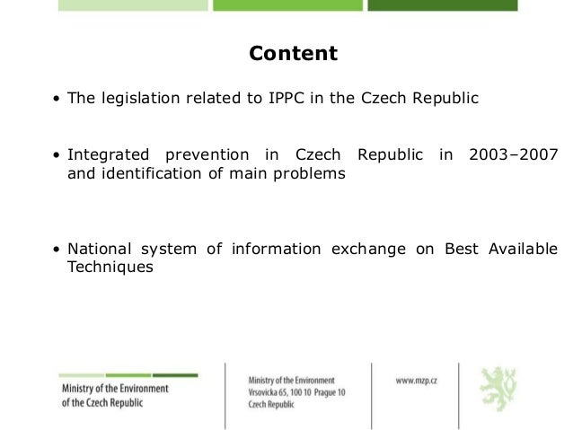 Implementation of technical environmental protection ENG Slide 2