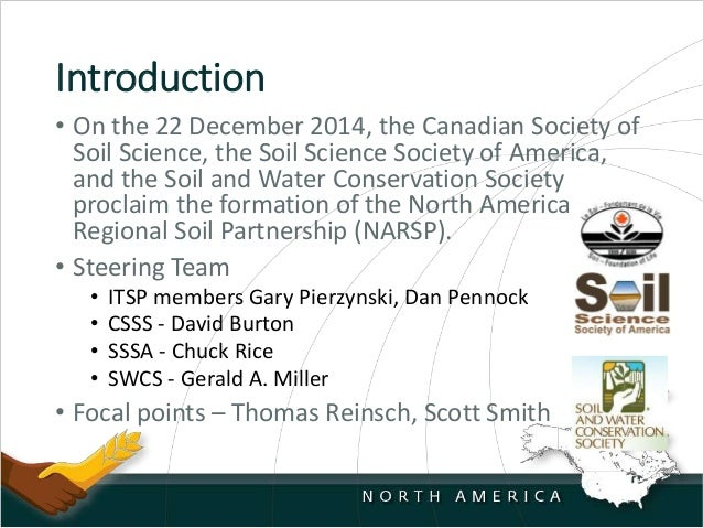 Report on the north america soil partnership for American soil
