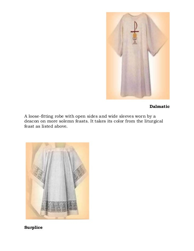 Items used at mass and liturgies