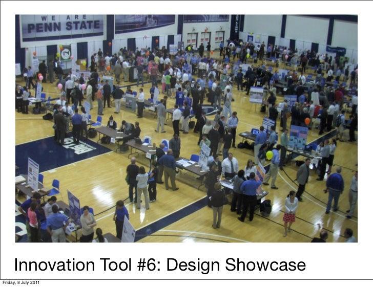 Innovation Tool #6: Design ShowcaseFriday, 8 July 2011