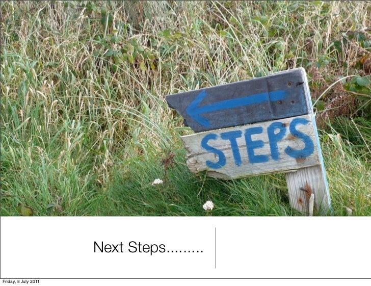 Next Steps.........Friday, 8 July 2011
