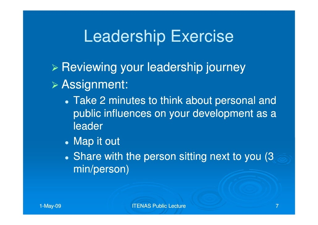 personal leadership journey paper Free essay: june 5, 2011 module 1 reflection paper - leadership by jason fagerquist leadership is difficult to define leadership is a concept that probably.