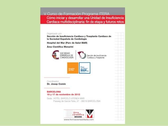 PROGRAMA ÍTERACreación y Desarrollo de Programas      de IC / Unidades de IC             en España   itera@secardiologia.es