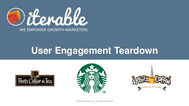 User Engagement Teardown ©2016 Iterable, Inc. All rights reserved
