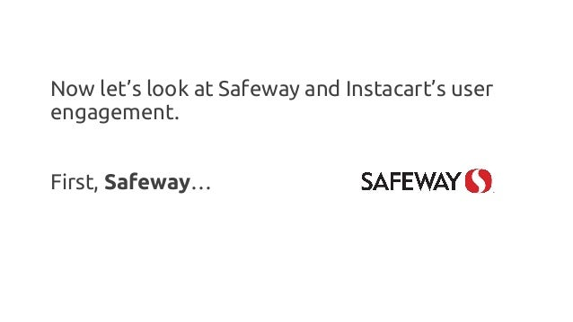 Now let's look at Safeway and Instacart's user engagement. First, Safeway…
