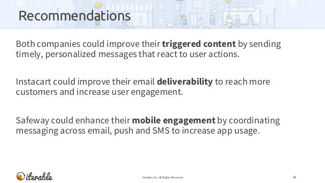 Recommendations Both companies could improve their triggered content by sending timely, personalized messages that react t...