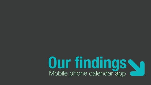 Our findingsMobile phone calendar app