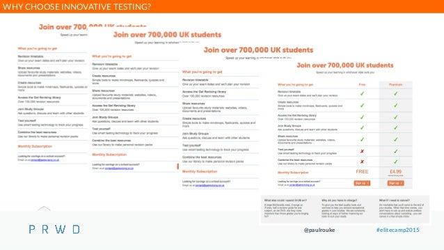 @paulrouke #elitecamp2015 WHY CHOOSE INNOVATIVE TESTING?
