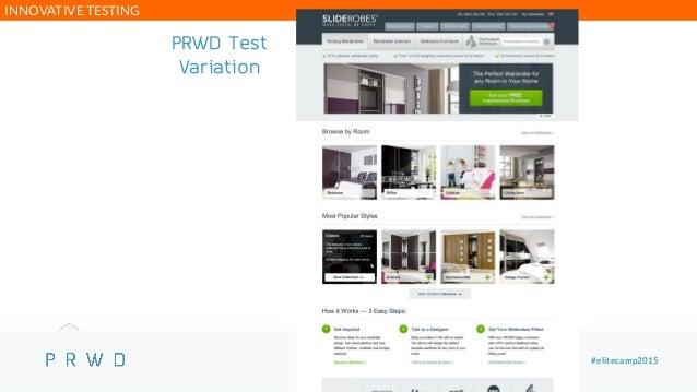 @paulrouke #elitecamp2015 PRWD Test Variation INNOVATIVE TESTING