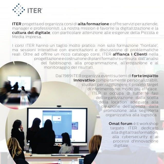 ITER: alta formazione professionale e progetti speciali per le Aziende Slide 2