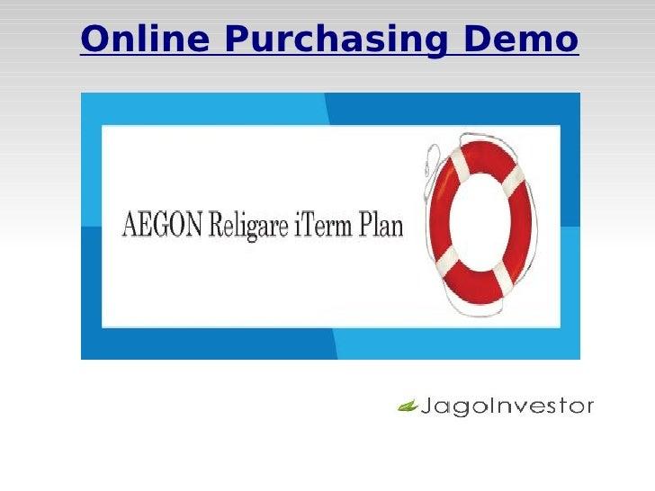 Online Purchasing Demo