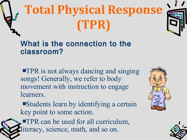 the total physical response approach to second language learning Total physical response is a language teaching method which is based on   between first language acquisition and 2nd language learning.