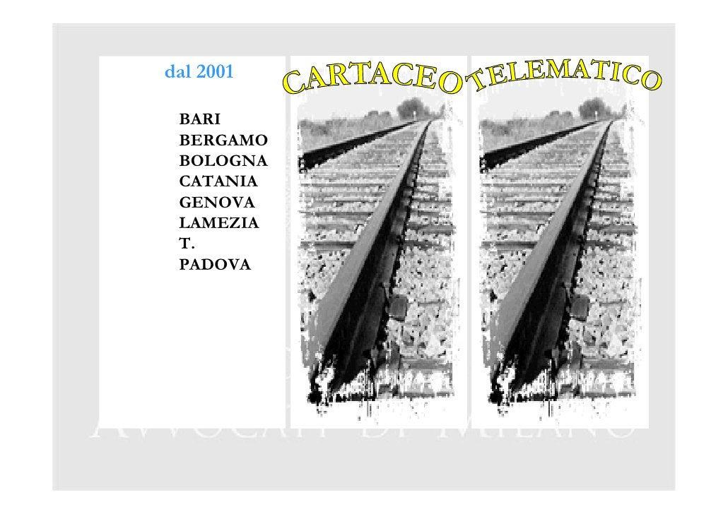 dal 2001   BARI  BERGAMO  BOLOGNA  CATANIA  GENOVA  LAMEZIA  T.  PADOVA