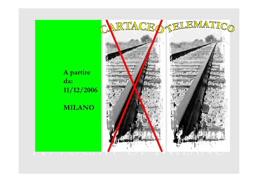 A partire da: 11/12/2006  MILANO