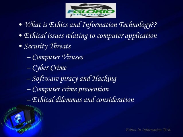 ethical principles in information technology