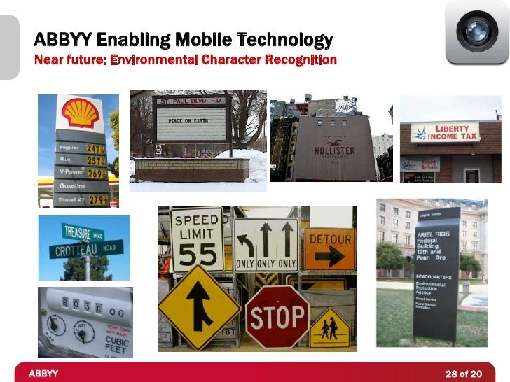 ABBYY Enabling Mobile TechnologyNear future: Environmental Character RecognitionABBYY                                     ...