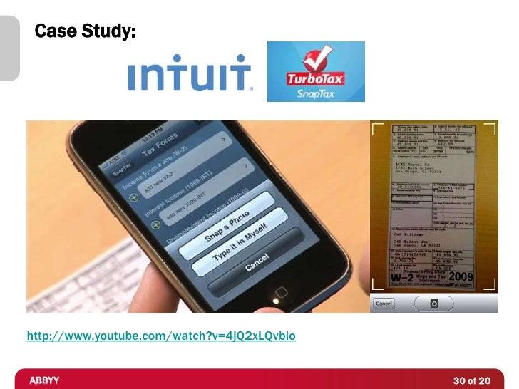 Case Study:http://www.youtube.com/watch?v=4jQ2xLQvbioABBYY                                        30 of 20