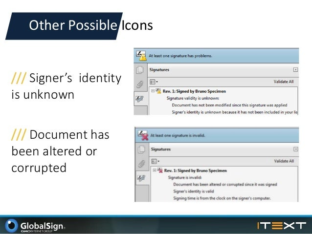 digital signature validity unknown pdf