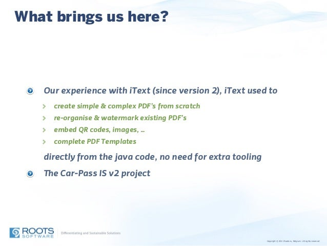 itext summit 2014 talk how to use pdf templates with itext