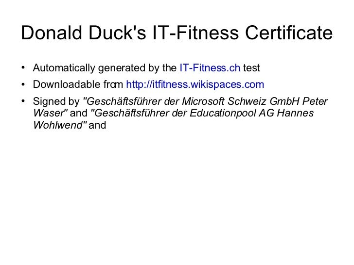 s 95 certificate of fitness test