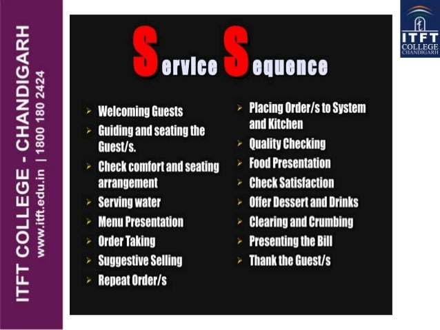 ITFT - f&b service sequence
