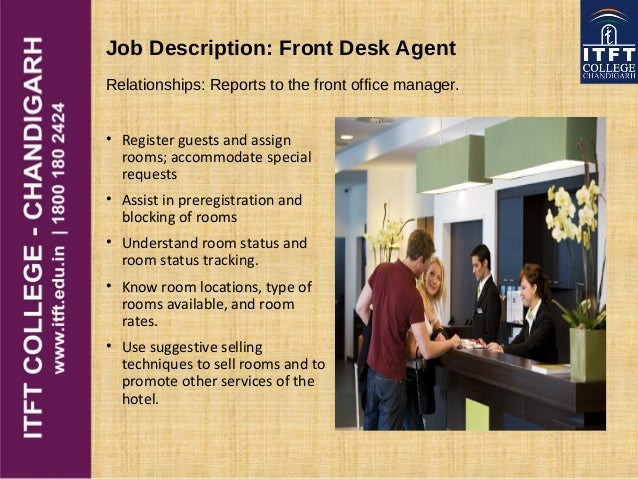 Job Description: Front Desk Agent ... Great Ideas