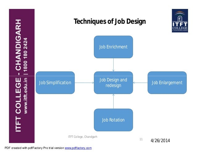 techniques of job design