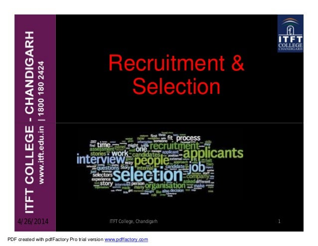 Recruitment selection and induction