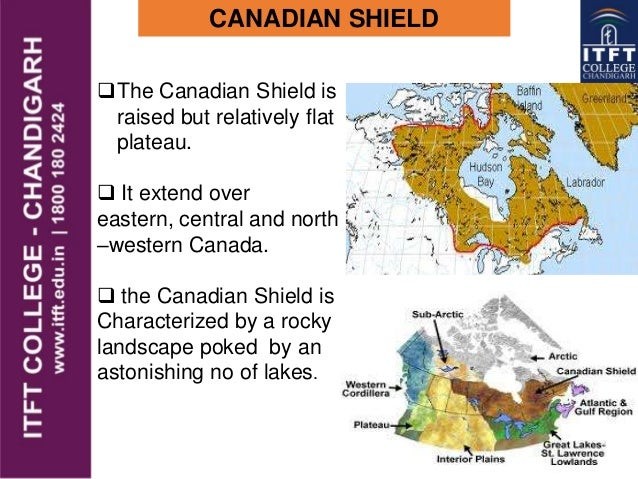 ITFT America Physical Features - Map of the us canadian shield