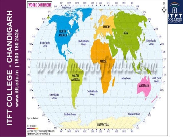 Itft continents and oceans of world continents land makes up 30 of the earths surface gumiabroncs Choice Image