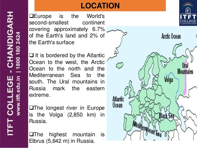 ITFT- europe physical features..